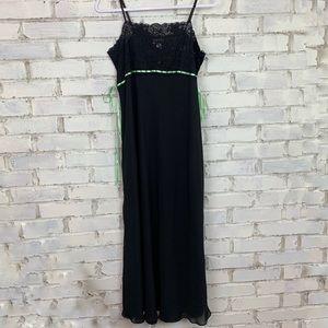 Cacique | Black Floor Length Nightgown | 14/16